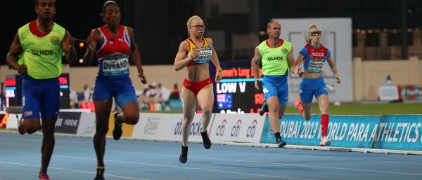Adiaratou Iglesias en la final de 200 metros