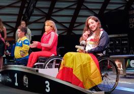 Loida Zabala posa con la medalla de bronce en el Europeo