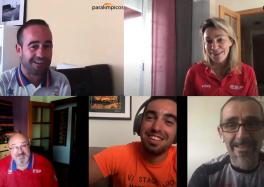 Montaje con los deportistas entrevistados