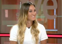Sarai Gascón, durante su entrevista en Teledeporte