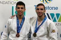 Álvaro Gavilán y Sergio Ibáñez posan con sus medallas
