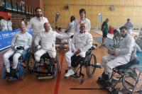 Participantes en la última prueba de esgrima