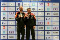 Eduardo cuesta y Juan Bautista Pérez con sus medallas