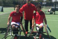 Los dos tenistas españoles