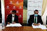 Firma del acuerdo entre la FETRI y el CPE